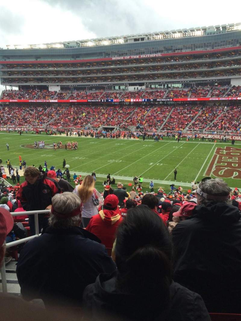 Seating view for Levi's Stadium Section 109 Row 36 Seat 22