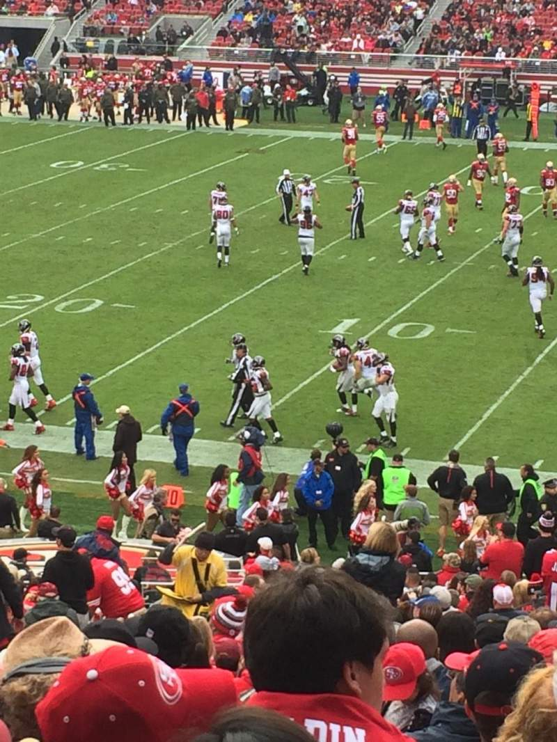 Seating view for Levi's Stadium Section 109 Row 8 Seat 21