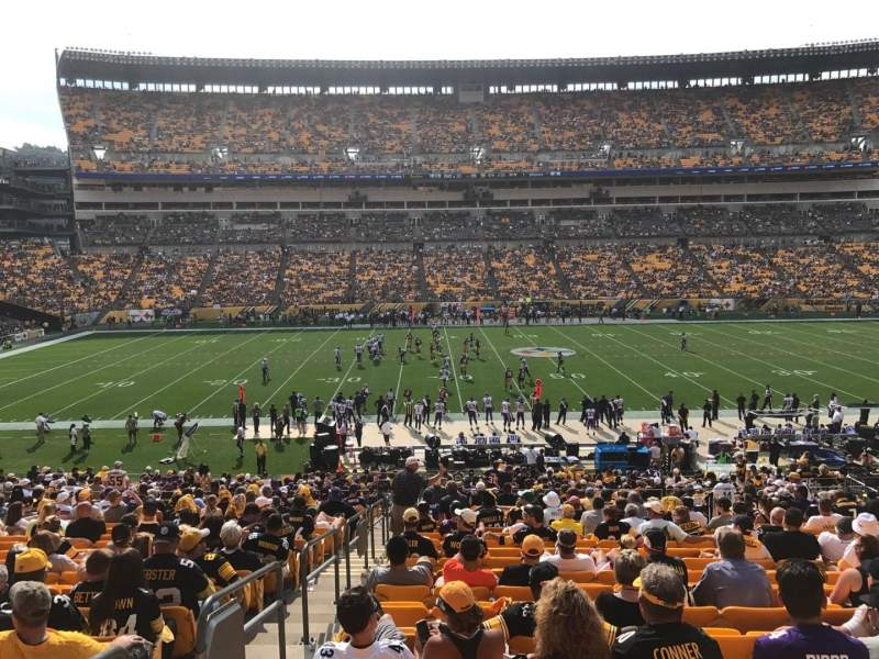 Heinz Field, section: 110, row: FF, seat: 22
