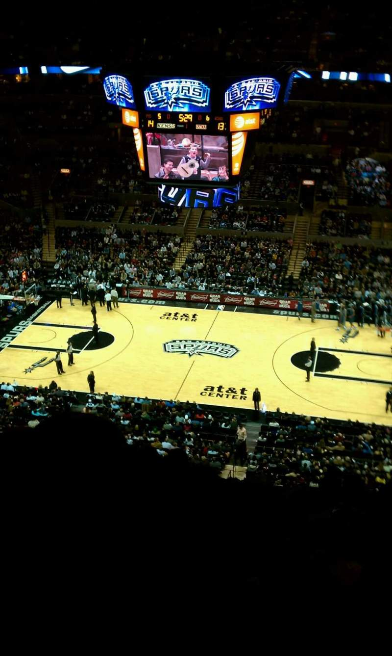 Seating view for AT&T Center Section 223 Row 11 Seat 9