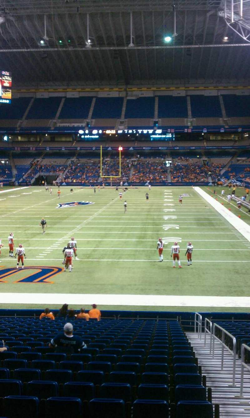 Seating view for Alamodome Section 144 Row 18 Seat 1