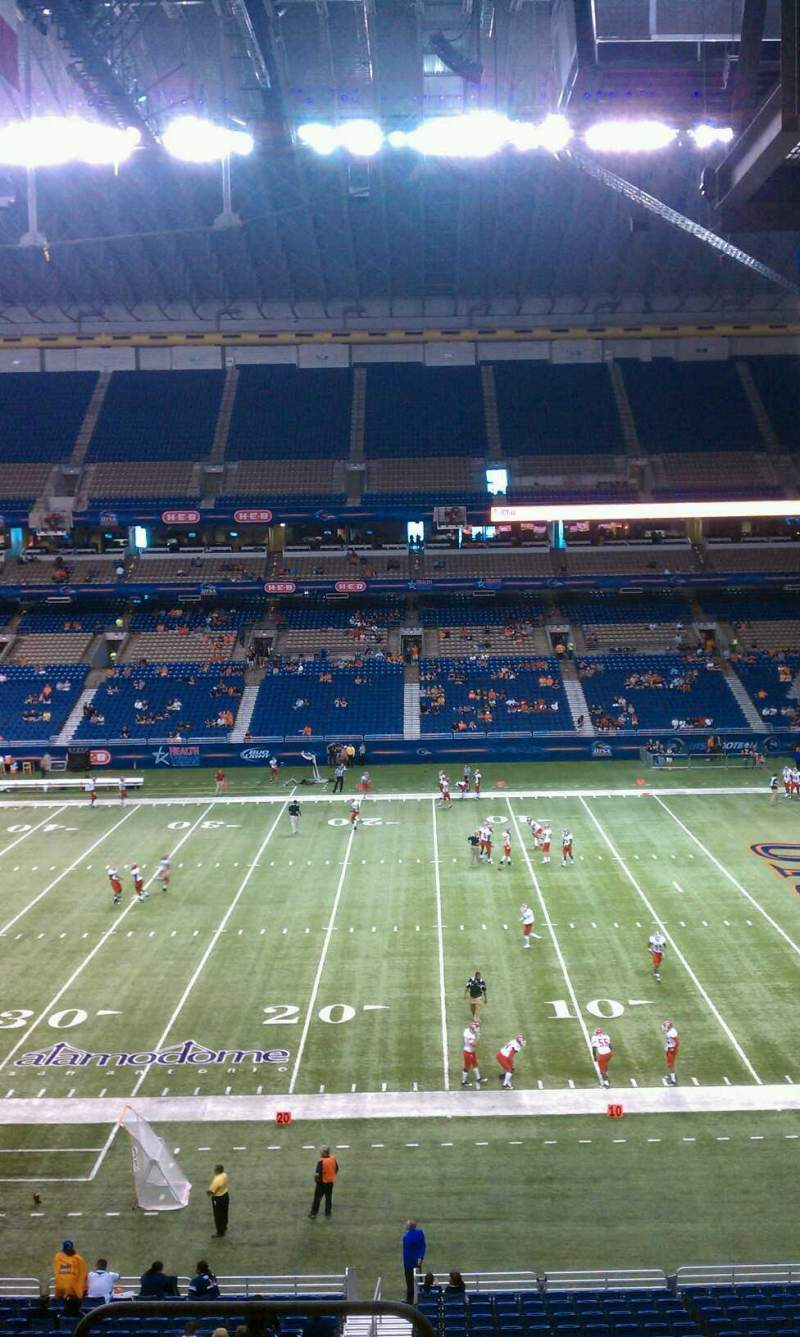 Seating view for Alamodome Section 209 Row 6 Seat 24