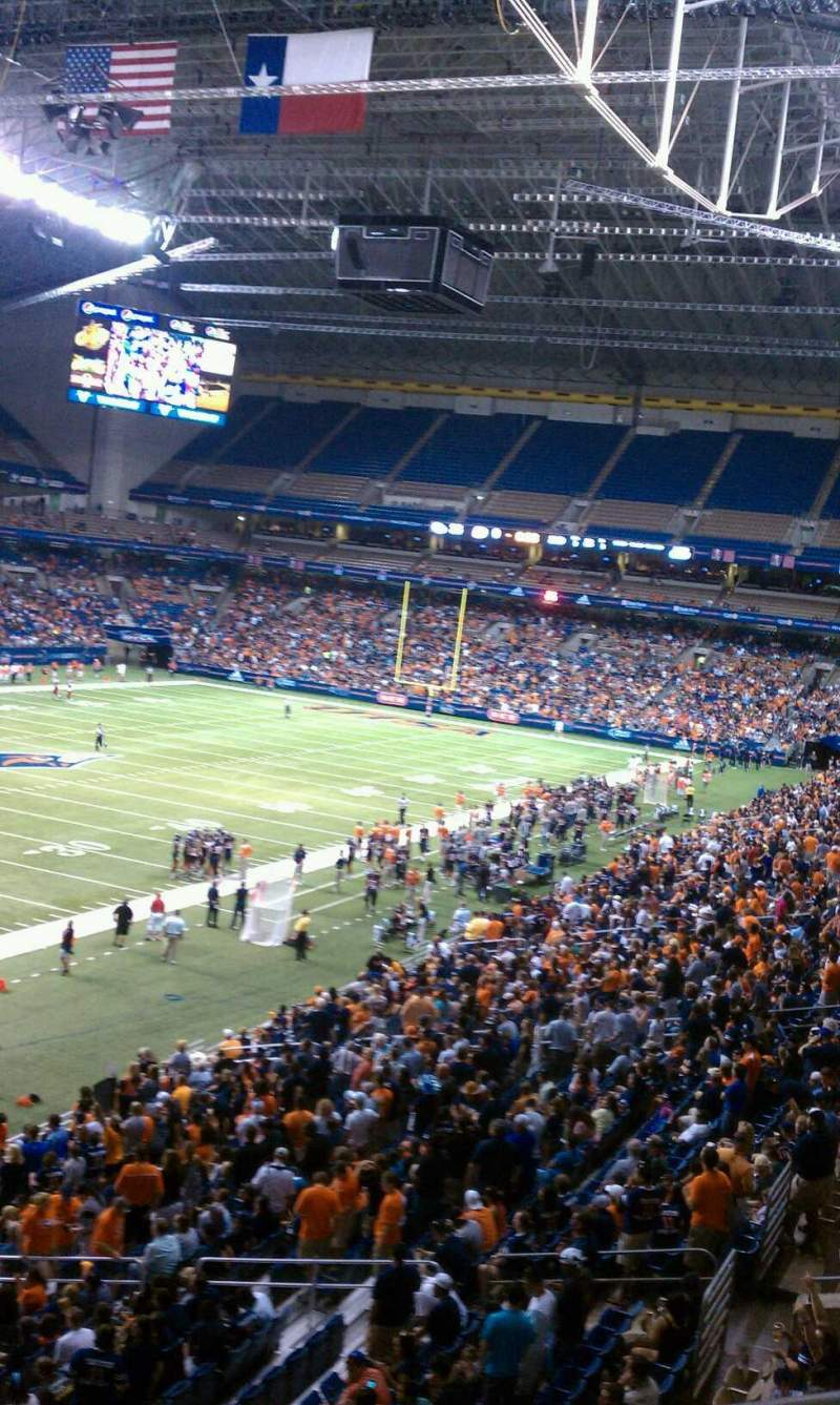 Seating view for Alamodome Section 218 Row 2 Seat 15