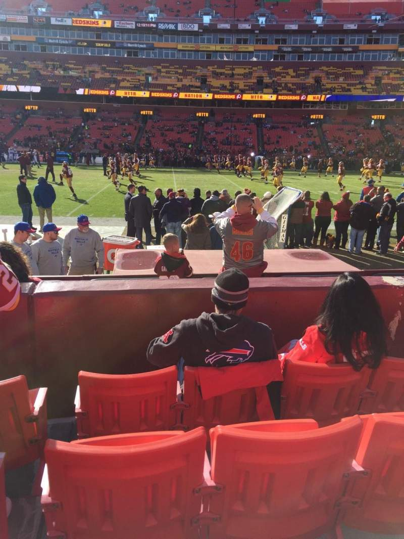 Seating view for FedEx Field Section 120 Row 4 Seat 9