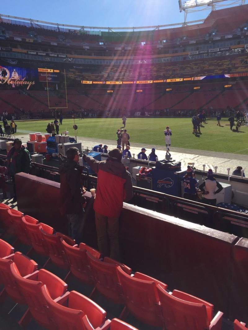 Seating view for FedEx Field Section 120 Row 4 Seat 10