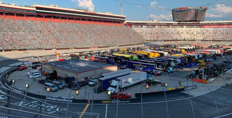 Seating view for Bristol Motor Speedway Section RP-G Row 30 Seat 8