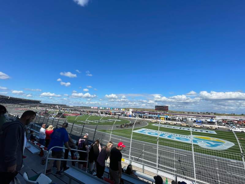 Seating view for Charlotte Motor Speedway Section FORD J Row 13 Seat 29