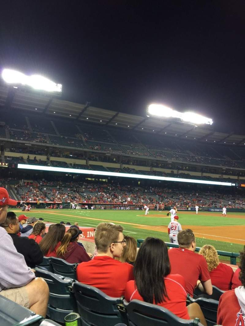 Seating view for Angel Stadium Section F126 Row G Seat 18