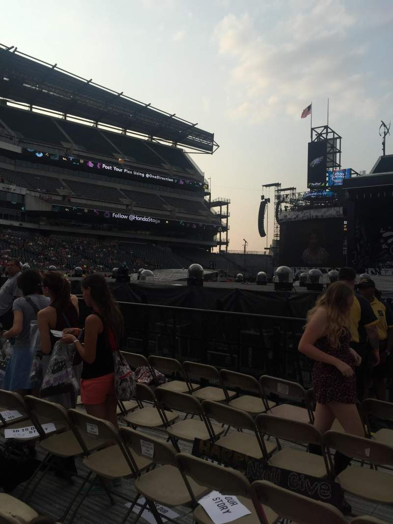 Seating view for Lincoln Financial Field Section F10 Row 35 Seat 17
