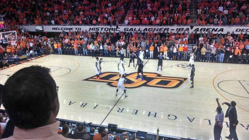 Seating view for Gallagher-Iba Arena Section 213 Row 3 Seat 1