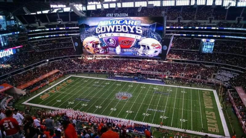 Seating view for AT&T Stadium Section 440 Row 26