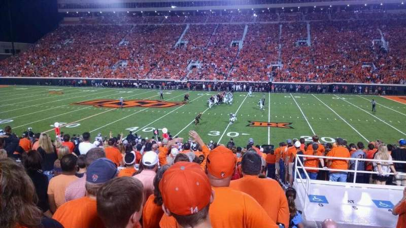 Seating view for Boone Pickens Stadium Section 224 Row 9 Seat 26
