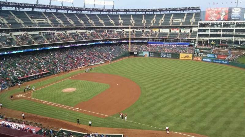 Seating view for Globe Life Park in Arlington Section 337 Row 1