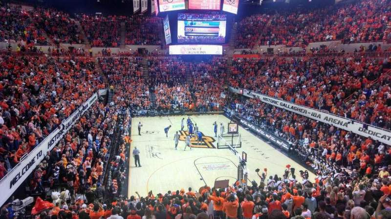 Seating view for Gallagher-Iba Arena Section 219 Row 12 Seat 4