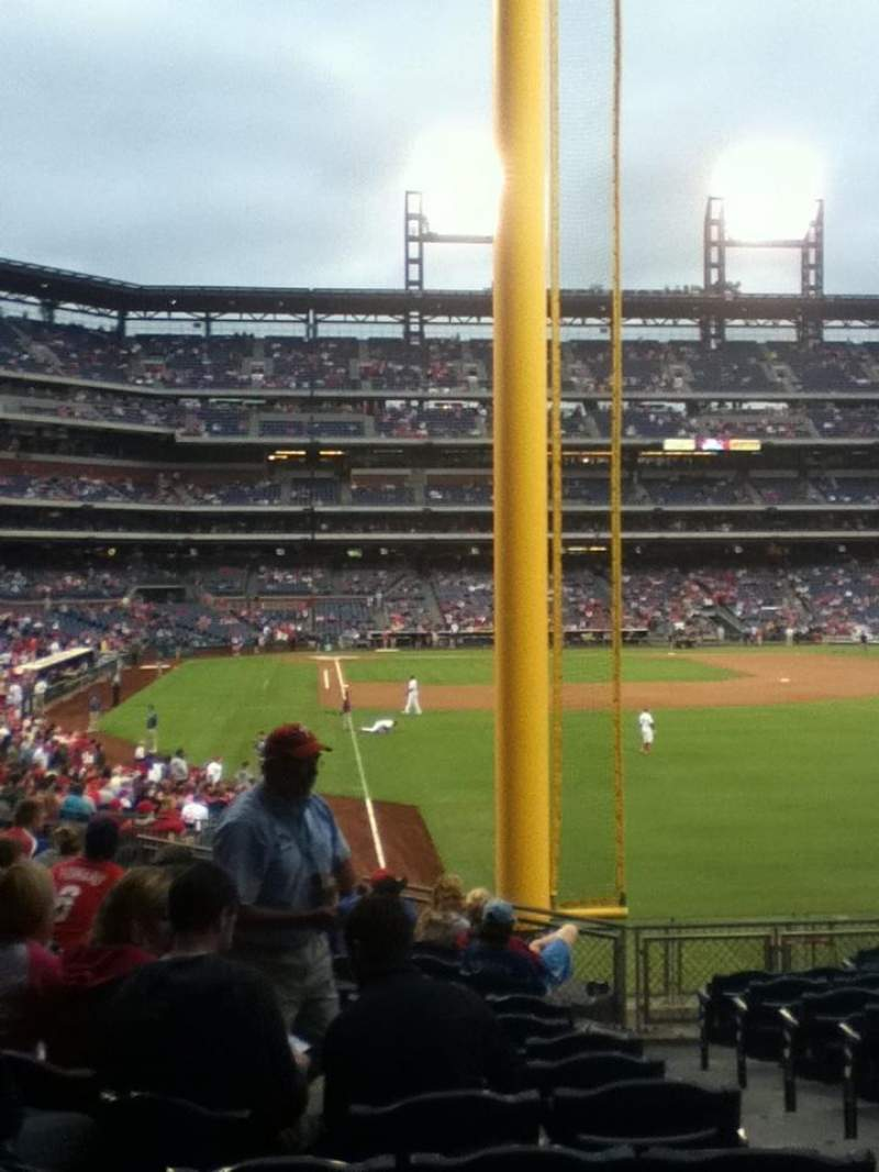 Seating view for Citizens Bank Park Section 107 Row 15 Seat 3