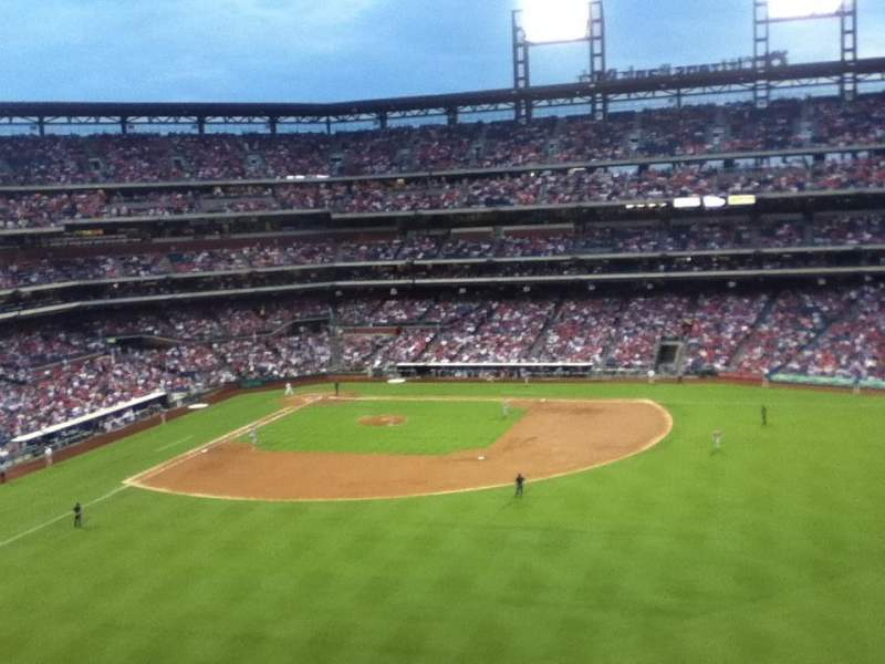 Seating view for Citizens Bank Park Section 301 Row 1 Seat 4