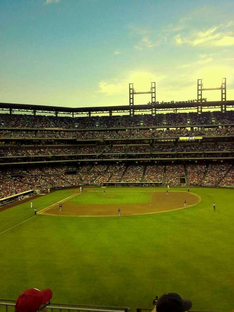 Seating view for Citizens Bank Park Section 203 Row 4 Seat 2