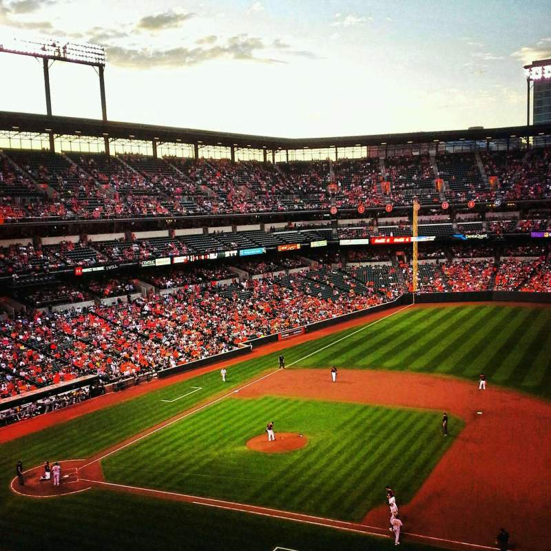 Seating view for Oriole Park at Camden Yards Section 318 Row 1 Seat 10