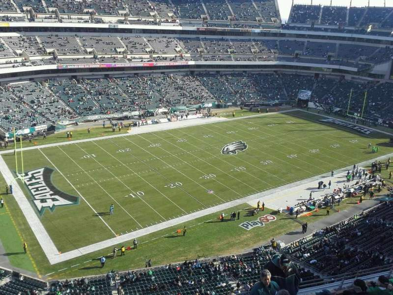 Seating view for Lincoln Financial Field Section 240 Row 7 Seat 10