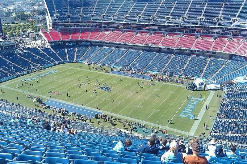 Seating view for Nissan Stadium Section 203 Row kk Seat 8