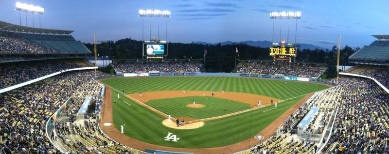 Seating view for Dodger Stadium Section Vin Scully Press Box
