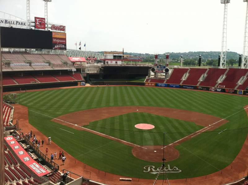 Seating view for Great American Ball Park Section Visiting Radio Booth
