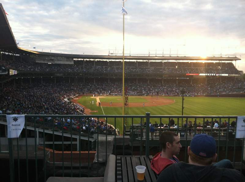 Seating view for Wrigley Field Section Sheffield Club