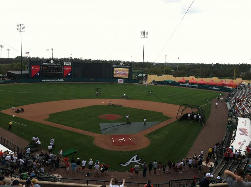 Seating view for ESPN Wide World of Sports Complex Section Press Box