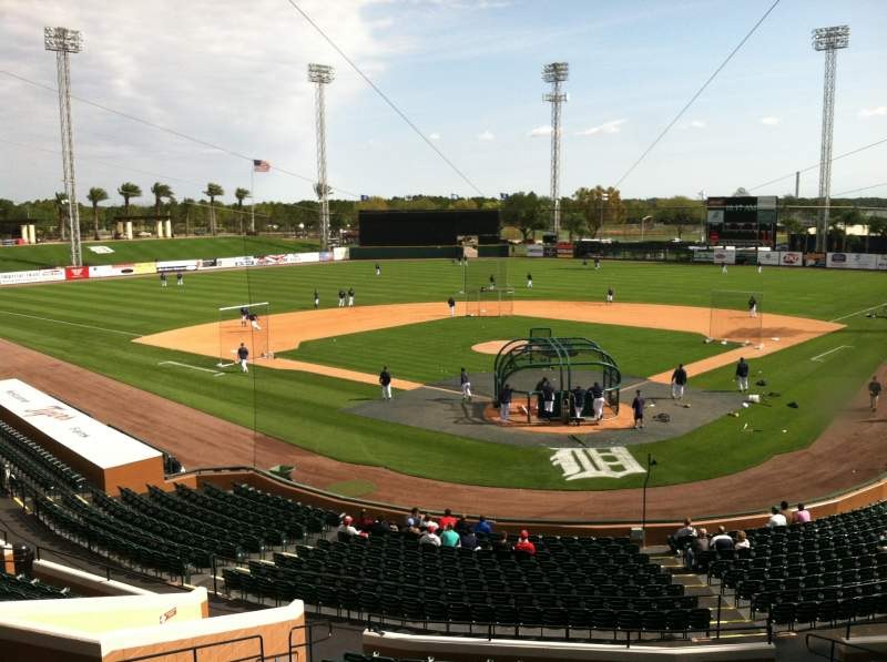 Seating view for Joker Marchant Stadium Section Press Box