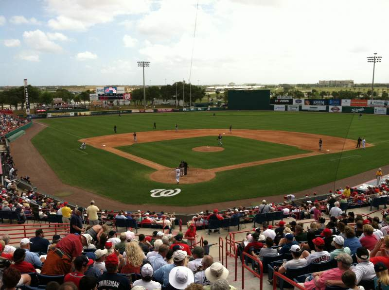 Seating view for USSSA Space Coast Complex Section Visiting Radio Booth