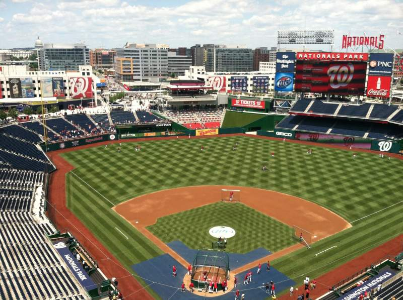 Seating view for Nationals Park Section Press Box