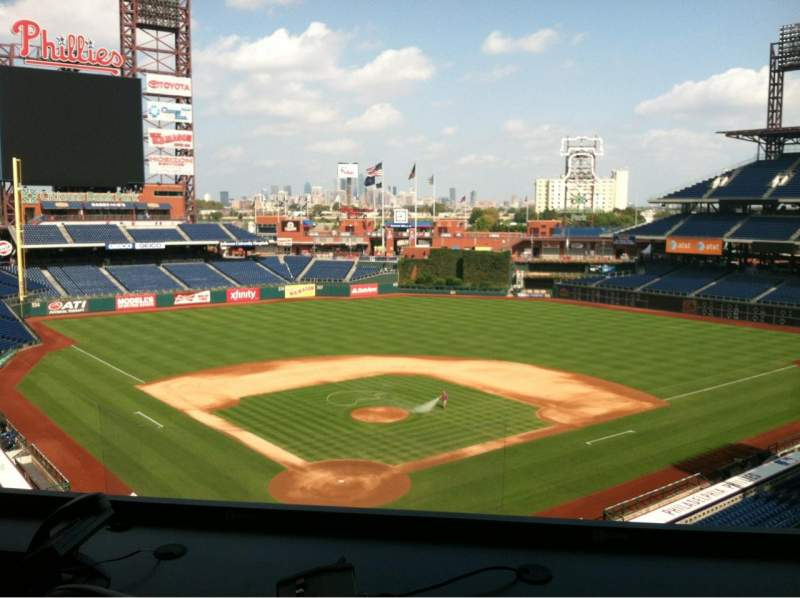 Seating view for Citizens Bank Park Section Press Box