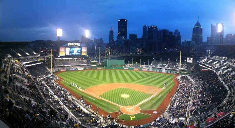 Seating view for PNC Park Section Press Box