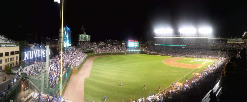 Seating view for Wrigley Field Section 403 Row 2 Seat 101
