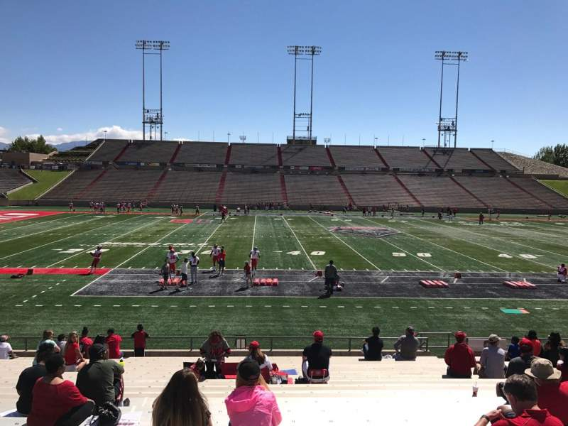 Seating view for Dreamstyle Stadium Section F Row 22 Seat 12