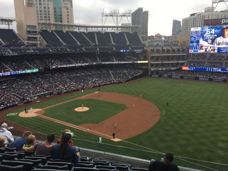 Seating view for PETCO Park Section 317 Row 6 Seat 14