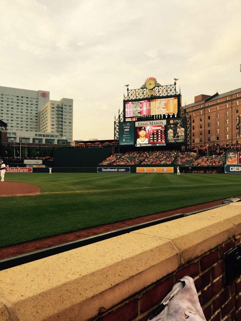 Seating view for Oriole Park at Camden Yards Section 18 Row 1 Seat 3