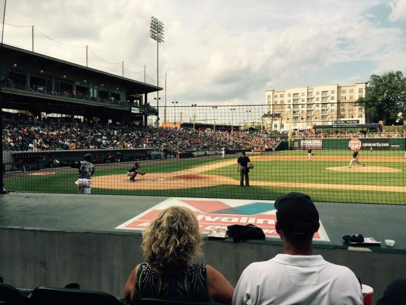 Seating view for BB&T Ballpark (Charlotte) Section 108 Row G Seat 7