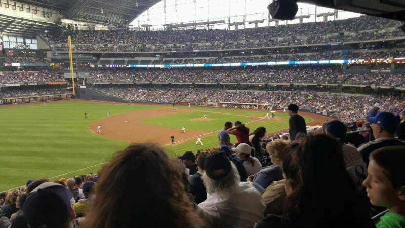 Seating view for Miller Park Section 229 Row 18 Seat 11