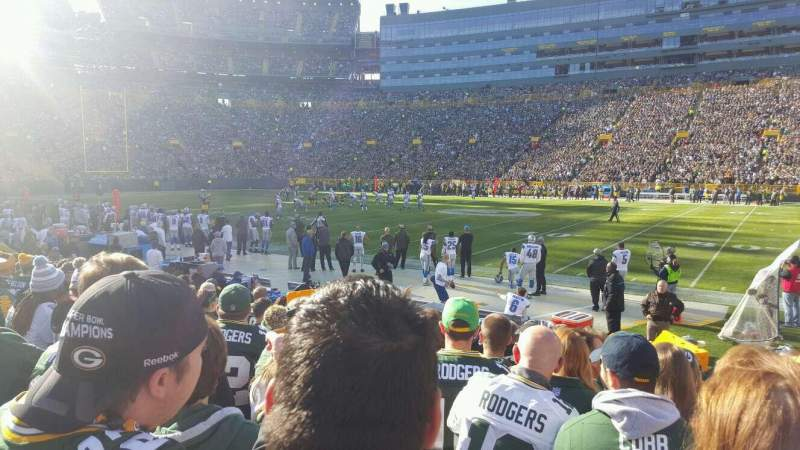 Seating view for Lambeau Field Section 115 Row 10 Seat 8