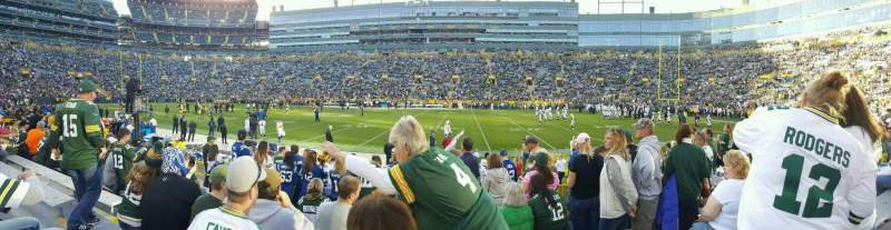 Seating view for Lambeau Field Section 115 Row 10 Seat 7