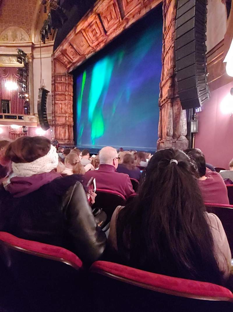 Seating view for St. James Theatre Section Orchestra R Row H Seat 22