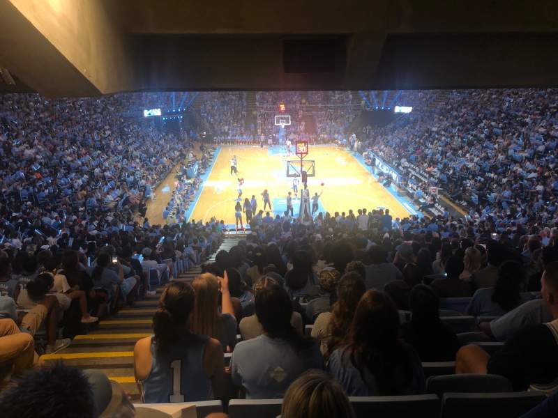 Seating view for Dean E. Smith Center Section 100 Row Ee Seat 2