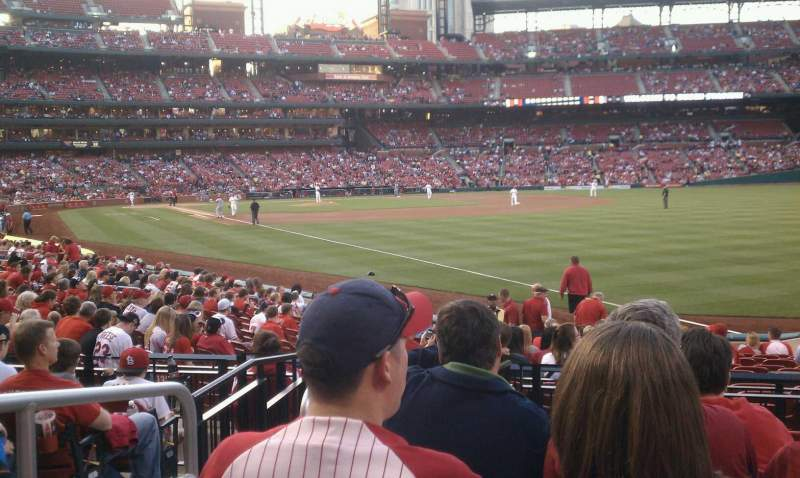 Seating view for Busch Stadium Section 132 Row 7 Seat 2
