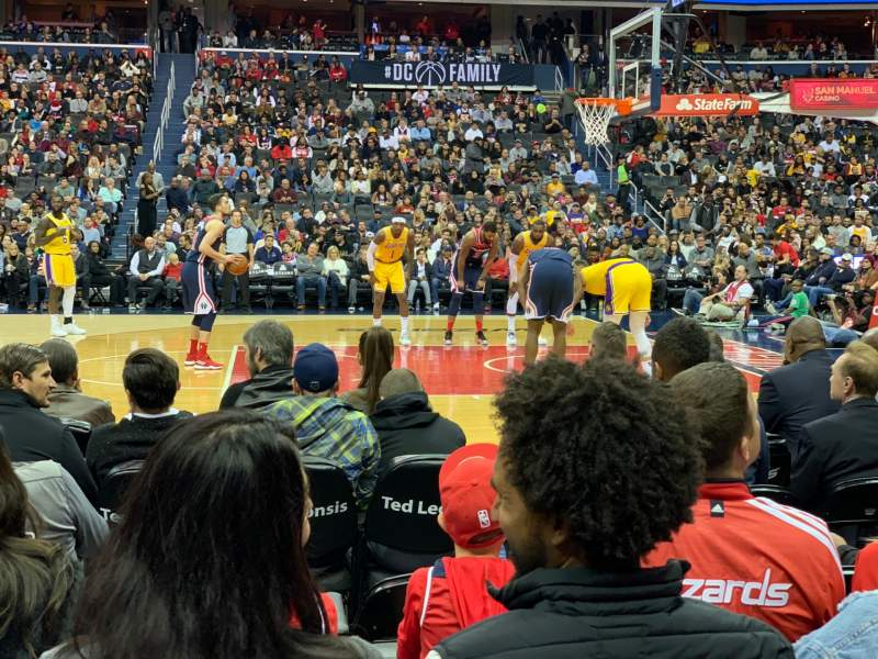Seating view for Capital One Arena Section 101 Row B Seat 5