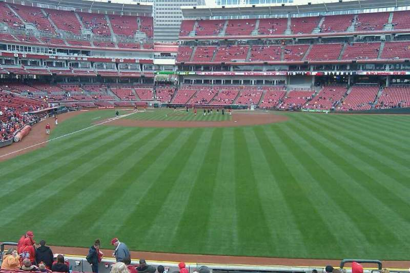 Seating view for Great American Ball Park Section 141 Row O Seat 9