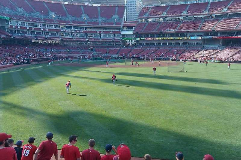 Seating view for Great American Ball Park Section 143 Row H Seat 10