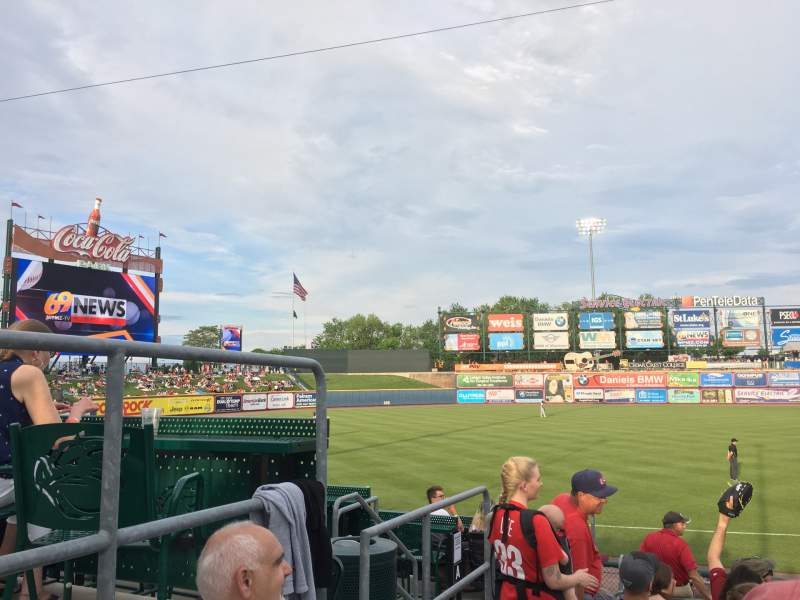 Seating view for Coca-Cola Park Section 120 Row P Seat 2