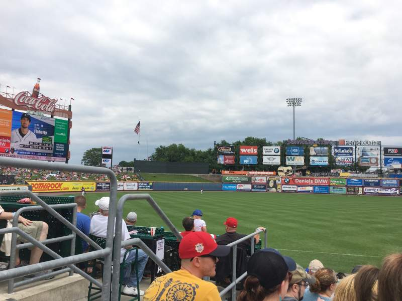 Seating view for Coca-Cola Park Section 120 Row L Seat 2