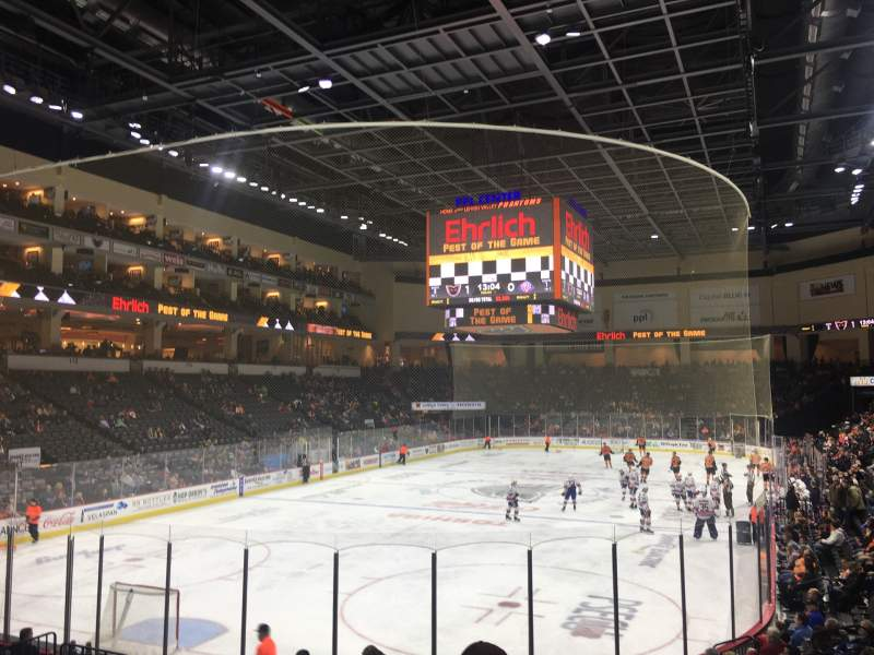 Seating view for PPL Center Section 109 Row 14 Seat 2